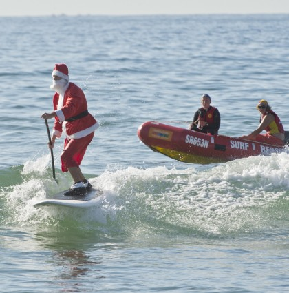 REX Feature – Santa Clause, Stand Up Paddle Boarding – Sydney, Australia