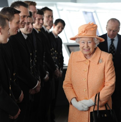 P&O Cruises – Her Majesty The Queen, officially named P&O Cruises New Flagship Britannia