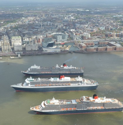 P&O Cruises – Three Queens meet in the Mersey – London, UK