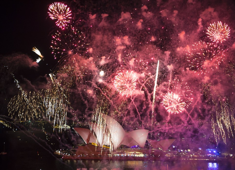 Fireworks end the day in Sydney as thousands celebrated the national Australia Day celebrations as others were calling to an end to the Queen and to take Australia into a republic