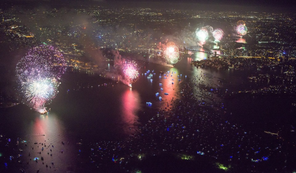 SYDNEY WELCOMES THE NEW YEAR IN THIS SPECTACULAR IMAGES SHOT FROM ABOVE AT 2500 FEET