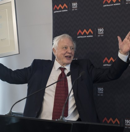 Sir David Attenborough visits Australian Museum