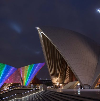 Rainbow Flag on Sydney Opera House