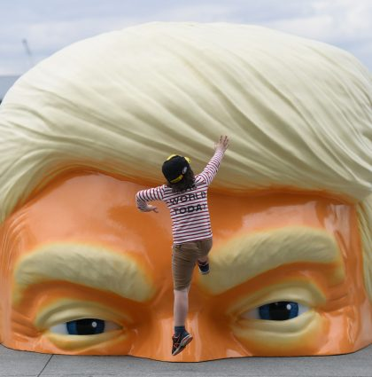 Donald Trump Head Installation – Sydney Australia
