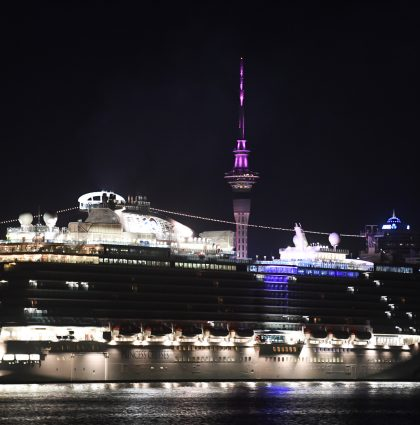 Princess Cruises – Majestic Princess Arrives – Auckland, New Zealand