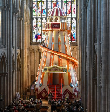Bishop Delivers Sunday Sermon On Helter Skelter – Norwich, UK